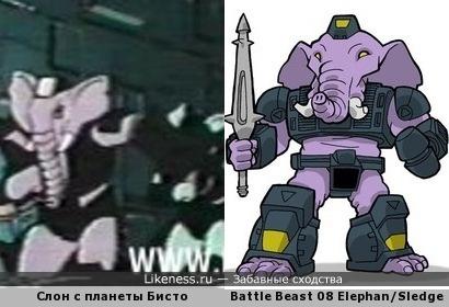 Только слон не растерялся
