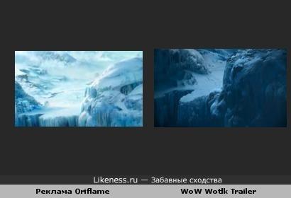 Реклама Oriflame похожа на трейлер к WoW Wotlk