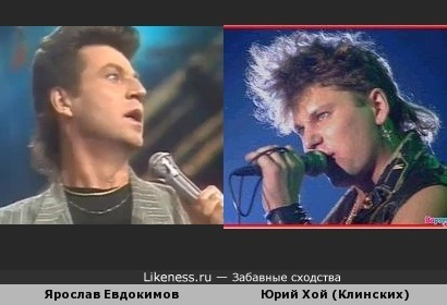 Ярослав Евдокимов и Юрий Хой похожи