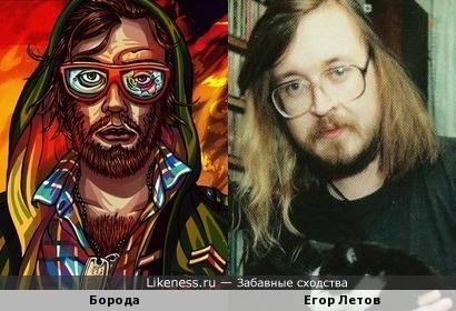 Борода из Hotline Miami похож на Егора Летова