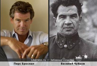 Пирс Броснан похож на маршала Советского Союза Чуйкова