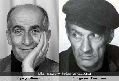 Владимир Головин похож на Луи де Фюнеса