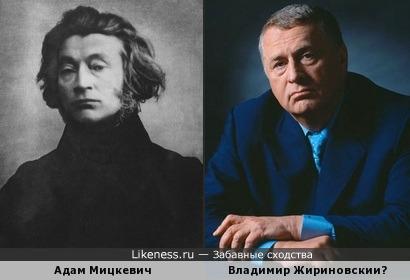 Адам Мицкевич похож Владимира Жириновского