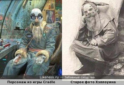 Персонаж из игры Cradle похож на человека сл старого фото