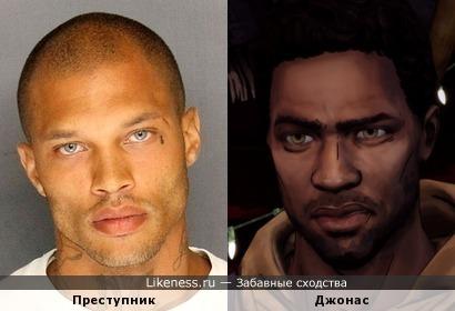 Самый красивый преступник похож на персонажа из The Walking Dead Telltale Games