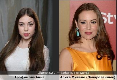Аня похожа на Алису милано