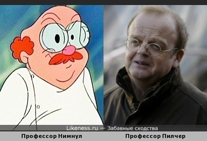 Doctor Pilcher (Wayward pines) looks alike Prof.Nimnul (Chip&Dale)