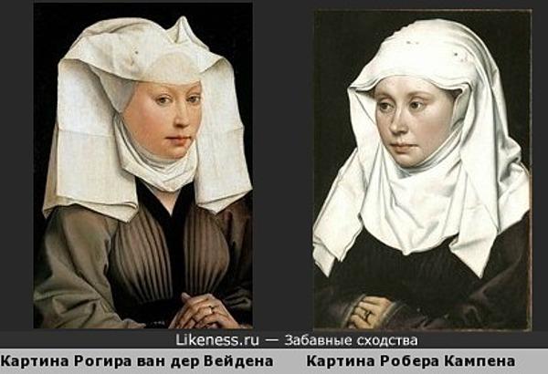 """Рогир ван дер Вейден """"Портрет женщины в боннэ"""
