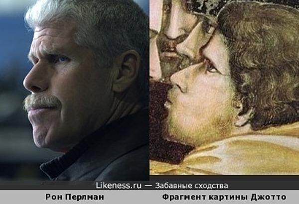 "Персонаж картины Джотто ""Поцелуй Иуды"