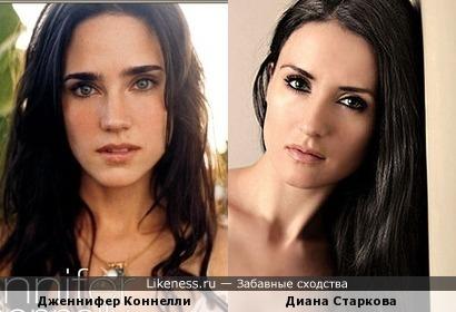 Диана Старкова напомнила Дженнифер Коннелли