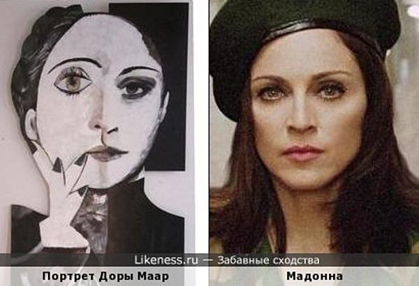 Дора Маар на портрете кисти Пабло Пикассо напоминает Мадонну