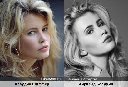 Айрленд Болдуин (дочь Ким Бейсингер и Алека Болдуина) напомнила Клаудиу Шиффер