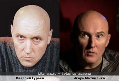 Валерий Гурьев похож на Игоря Матвиенко