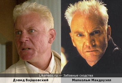 Дэвид Варшовский и Малкольм Макдауэлл