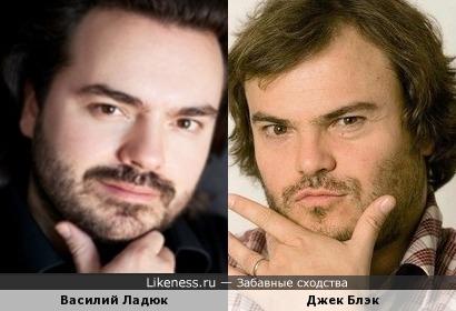 Василий Ладюк и Джек Блэк