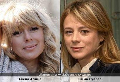 Алена Апина и Эмма Суарес