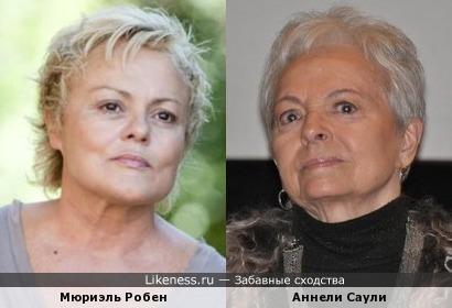 Мюриэль Робен и Аннели Саули