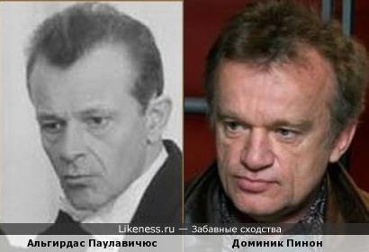 Альгирдас Паулавичюс и Доминик Пинон