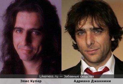 Элис Купер и Адриано Джаннини