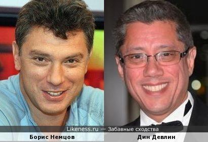 Борис Немцов и Дин Девлин