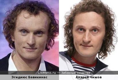 Эгидиюс Бавикинас и Андрей Чижов