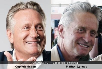 Сергей Исаев и Майкл Дуглас