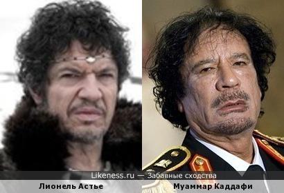 Лионель Астье и Муаммар Каддафи