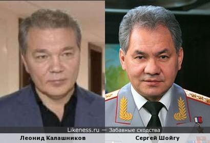Леонид Калашников похож на Сергея Шойгу