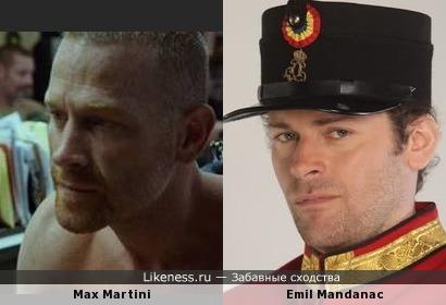 Max Martini и Emil Mandanac