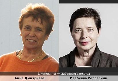 Спорткомментатор и теннисистка СССР Анна Дмитриева и Изабелла Росселини