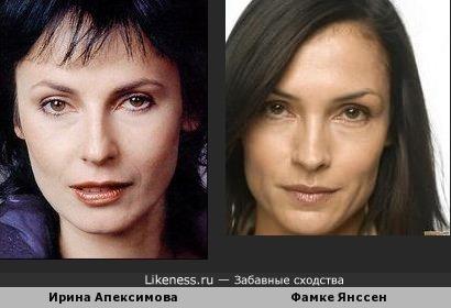 Ирина Апексимова и Фамке Янссен