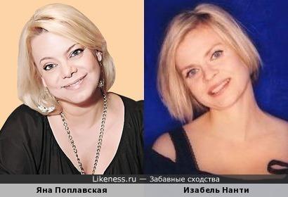 Яна Поплавская и Изабель Нанти