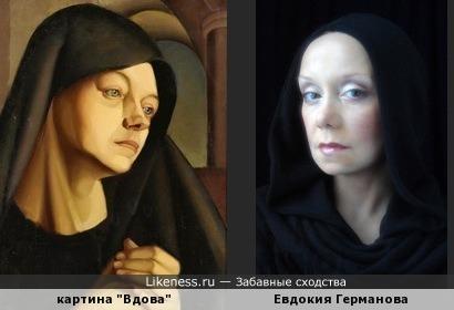 """Картина Тамары де Лемпицка """"Вдова"""
