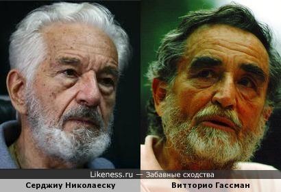 Серджиу Николаеску и Витторио Гассман