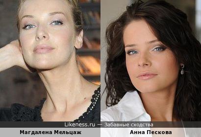 Магдалена Мельцаж и Анна Пескова