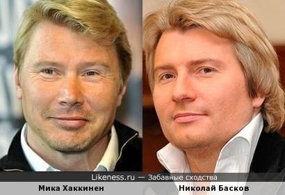 Николай Басков и Мика Хаккинен