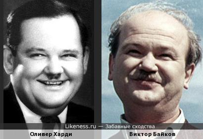 Оливер Харди и Виктор Байков
