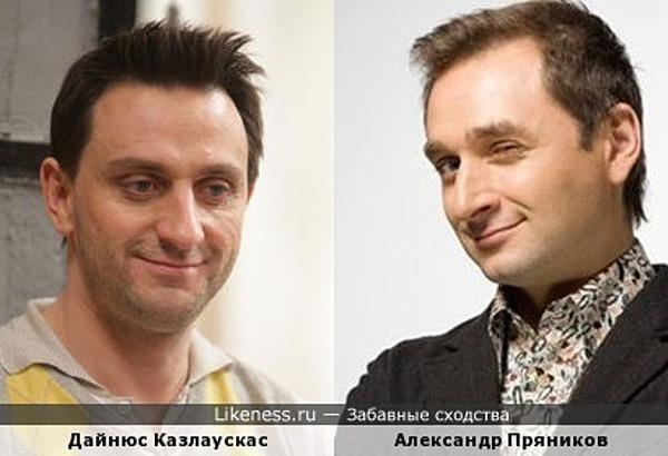 Дайнюс Казлаускас и Александр Пряников