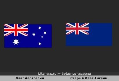 Флаг Австралии похож на старого флага Англии