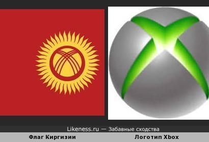 флаг киргизии похож на логотипа Xbox