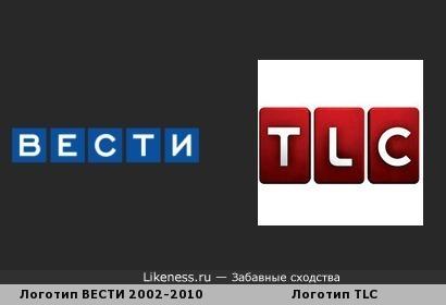 Логотип ВЕСТИ 2002-2010 Похож на Логотип TLC