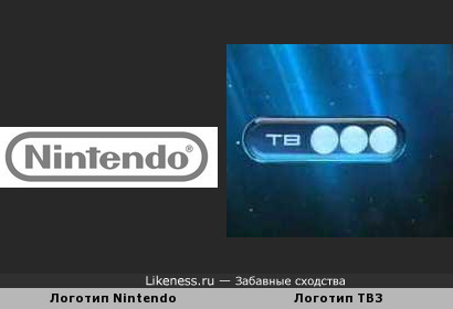 Логотип Nintendo похож на Логотип ТВ3