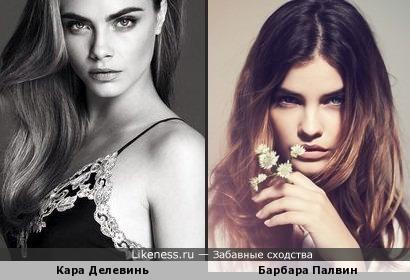 Кара Делевинь и Барбара Палвин похожи