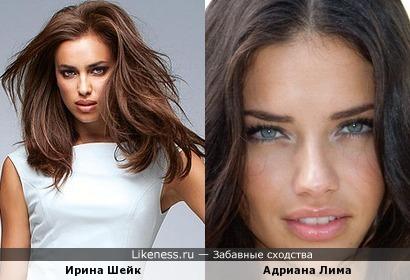 Ирина Шейк похожа на Адриану Лиму