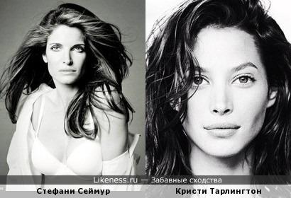 Стефани Сеймур и Кристи Тарлингтон