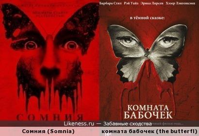 обложка фильма сомния похож на обложку Комната бабочек (2012)