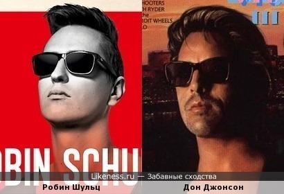 Робин Шульц на обложке альбома и Дон Джонсон весьма похожи