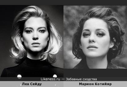 Леа Сейду и Марион Котийяр похожи