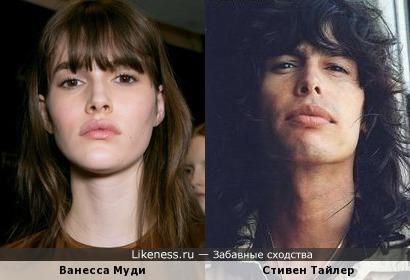 Ванесса Муди похожа на Стивена Тайлера