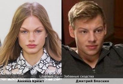 Анника Крижт(модель) и Дмитрий Власкин(Димас из т/c Физрук)
